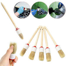 5x 25mm Soft Car Wash Detailing Brush Wood Handle For Clean Trim Seat Whe zxc