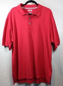 DULUTH TRADING COMPANY RED POLO BRICK SIZE LARGE PLAIN FREE SHIPPING!