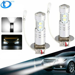 H3 50W  LED 6000K White Fog Lights Bulbs Fit For 2000-2004 Toyota Corolla