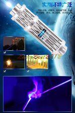 BX3-F5 450nm Adjustable Focus Blue Laser Pointer Burn Matches Light Cigarette