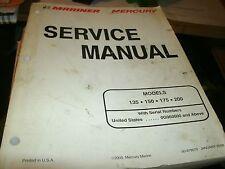 2000 MERCURY MARINER MODELS 135 150 175 200 FACTORY SHOP SERVICE MANUAL