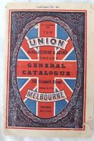 UNION Manufacturing & Agency Co Melbourne. GENERAL Catalogue #40, Circa 1930