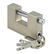 90MM HEAVY DUTY CONTAINER SHUTTER GARAGE SECURITY PADLOCK 4 KEYS **KEYED ALIKE**