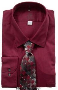 Mens Dress Shirt Geoffrey Beene Big Fit Plus Outsize Cotton Rich Easycare