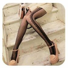 1 Women black white Vintage lace embroidery Stockings Pantyhose Tights