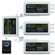 WiFi+3x RGBw led Controller -2.4G RF Android IOS Phone MiLight 4-Zone RGB Dimmer