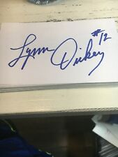 Lynn Dickey 1976 Green Bay Packers Signed 3x5 index Card