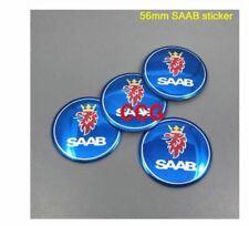 4pcs 56mm SAAB logo Car Emblem Tire Wheel Center Rim Hub Caps 56mm Saab sticker