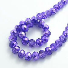 Lot Colourful Rondelle Faceted Crystal Glass Loose Spacer Beads 4mm 6mm 8mm 10mm