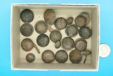 21 CIVIL WAR CONFEDERATE METAL MILITARY BUTTONS from a Collector's home fire