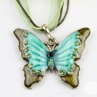 Butterfly Necklace Sweater Chain Butterfly Pendant Retro Chic Long Necklaces
