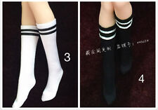 "1/6 Scale White and Black Tennis/Sports Socks F12"" PH UD JO Female Figure Body"