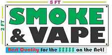 SMOKE & VAPE Full Color Banner Sign Shop C STORE Electronic E-CIG