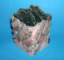 Studio ART Pottery-Designer SQUARE POT piuttosto Stone & Perline Effetto (M. Mark).