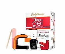 SALLY HANSEN Salon Insta Gel Strips Starter Kit Gel Manicure Nail Red My Lips