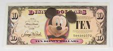 New 2008 Disney Dollars $10 21st Century Mickey Uncirculated, Mint