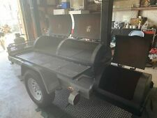 2020 - 4' x 14' Reverse Direct Flow Barbecue Smoker Tailgating Trailer for Sale