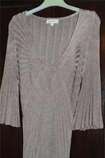 Monsoon  Party Dress Dusky Pink / Beige / Gold sparkly colour size M Gatsby Abba