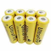 8X 18650 9800mAh 3.7V Li-ion Batterie Rechargeable Battery for Flashlight LED