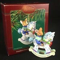 Grandson's First Christmas Ornament 2003 Carlton Cards Heirloom Rocking Horse