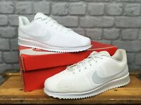 NIKE MENS UK 11 EU 46 WHITE PURE PLATINUM CORTEZ ULTRA MOIRE TRAINERS