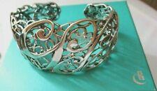 Carolyn Pollack Sterling Silver Anniversary Filigree Cuff Bracelet CP Box/Pouch