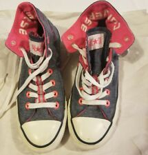 Converse All Star Chuck Taylor High Top Fold Over Blue Neon Pink Purple Women's