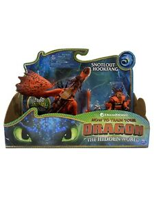 Dreamworks Dragons, Hookfang and Snotlout, Dragon with Armored Viking Figure