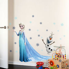 Kids Wall Stickers Frozen Princess Elsa and Olaf Wall Sticker Nursery Decoration