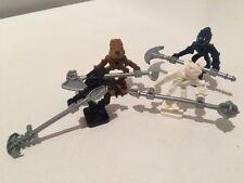 4 LEGO One-piece Mini-Bionicles - TOA HORDIKA Clan w/ Weapons