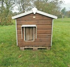 Insulated Large Wooden Dog Kennel - Used