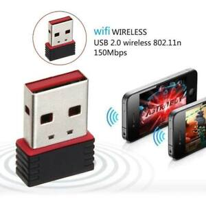 150Mbps Wireless USB Adapter WIFI Internet Dongle 802.11 B/G/N For Windows7 8 10