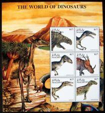 1997 MNH MALDIVES WORLD OF DINOSAURS STAMP SHEET PREHISTORIC ANIMALS BARYONYX