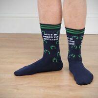 Meet Me Under the Mistletoe Men's Christmas Socks Novelty Gift