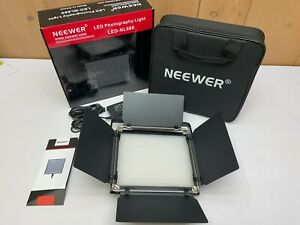 Neewer Professional Video Light Dimmable LED Bi-Color Metal LED-NL660 W Stand L1