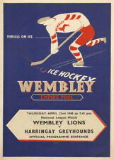 ICE HOCKEY WEMBLEY EMPIRE POOL 1948, Vintage Sports Poster 200gsm A3