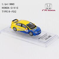 1/64 INNO HONDA CIVIC TYPE-R FD2 #95 TUNED BY SPOON SPORTS DIECAST CAR MODEL