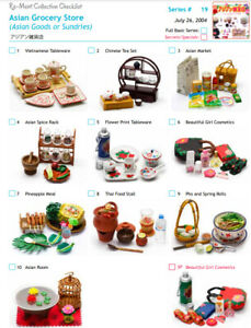 Re-ment - Asian Grocery Store - Whole Set or Buy Individually - New