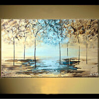 ZWPT371 modern landscape tree 100% hand-painted wall art oil painting on canvas