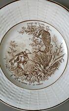 Assiette Digoin Sarreguemines Fable De La Fontaine Le renard et le corbeau