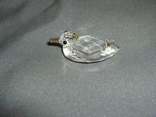 Swaroski Crystal Miniature Duck Figurine 7660  Retired  Signed  Box NICE