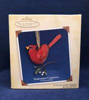 Northern Cardinal  2005 Hallmark Ornament 1st Beauty of the Birds Leaves Berries