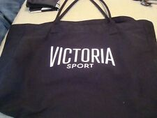 Victoria Secret Large Black Canvas Tote