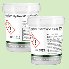 Potassium Hydroxide Flake 90% 2 x 1Kg (2Kg) Including Delivery