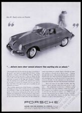 1963 Porsche 356 coupe car photo Sheer Sensual Pleasure vintage print ad