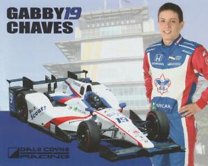 2016 Gabby Chaves Boy Scouts Honda Dallara Indy 500 Indy Car postcard