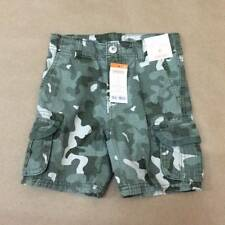 NWT Gymboree Boys Green Classic Fit Camo Cargo Shorts Size 4