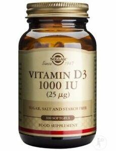 Solgar vitamine D3 1000 UI 100 softgels