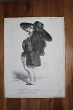 ✒ Théophile GAUTIER caricature tirage original CHARIVARI 1839 Benjamin ROUBAUD