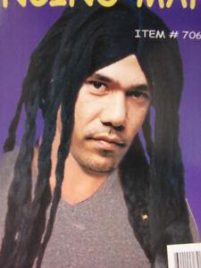 Dreadlocks Rasta Wig Jamaican Costume Accessory Adult Halloween Wigs